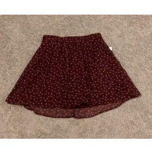 Burgundy patterned xs Old Navy skirt